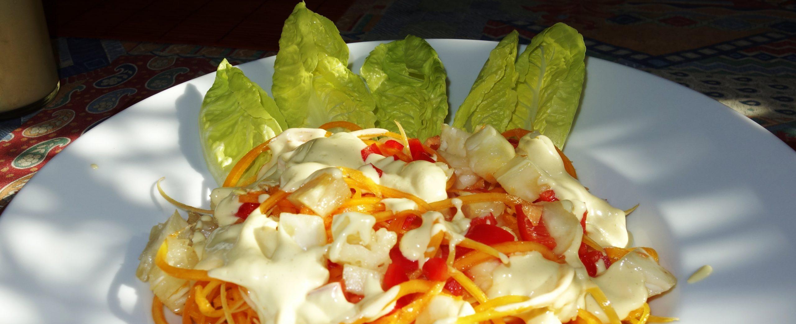Kürbis-Spaghetti mit Ananas