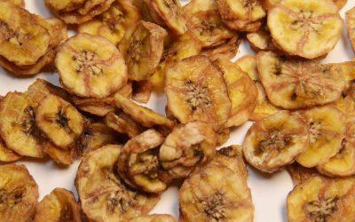 Bananenscheiben getrocknet
