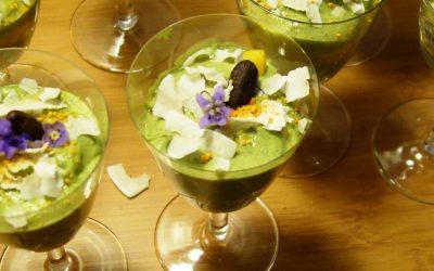 Grünes Mango-Dessert